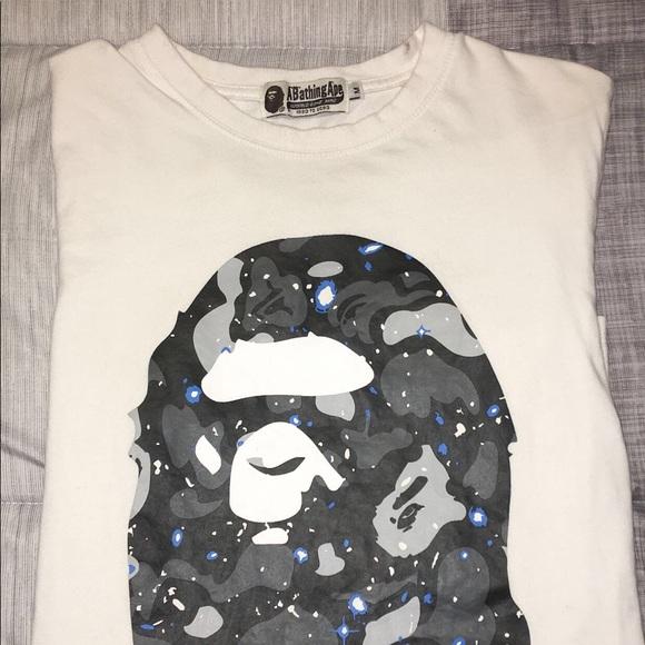 b45fb6b04 Bape Shirts | A Bathing Ape Ape Head Galaxy Tee | Poshmark
